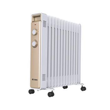 艾美特取暖器电暖器家用油汀13片节能省电暖风机HU1314-W