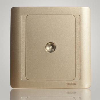 西蒙正品开关插座 55香槟系列 单电视有线一位电视插座N55111-56