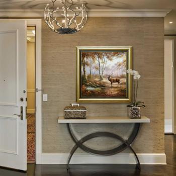 IKSEA经典传承《鹿之源泉》64x64cm玄关书房客厅装饰画G1655