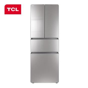 TCL285升变频冷藏自动除霜电脑控温法式多门冰箱(典雅银)BCD-285KPR50