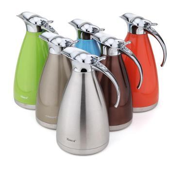 兴财304不锈钢大容量保温壶 家用热水壶办公室暖壶欧式旅行便携壶