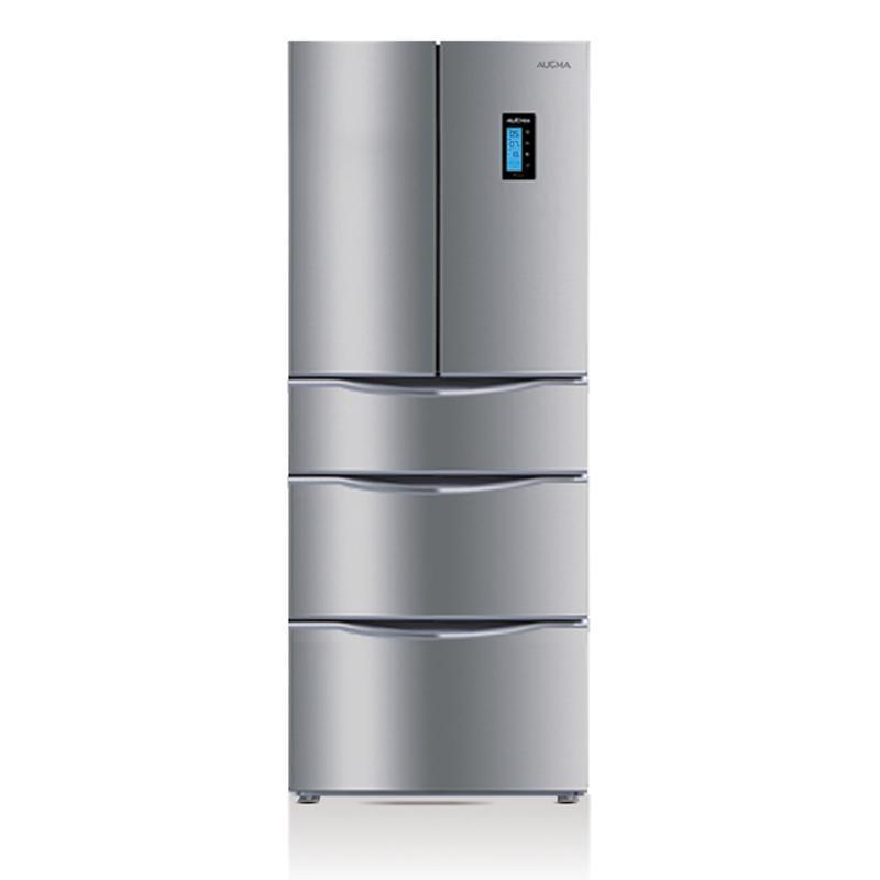 澳柯玛欧式五门冰箱bcd-367wvh银灰拉丝