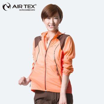 AIRTEX亚特防风透气防沷水长袖皮肤衣女款时尚潮款弹力外套AT1A18W2103