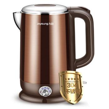 九阳K17-W6电热水壶304食品级不锈钢家用控温烧水壶