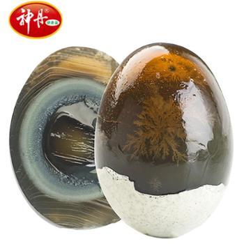 神丹松花皮蛋10枚无铅工艺糖心品质淡水散养鸭蛋制作