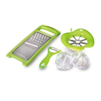 【工会优选】德世朗品味生活厨房四件套多用刨削皮器分果器磨蒜器DFS-CB002