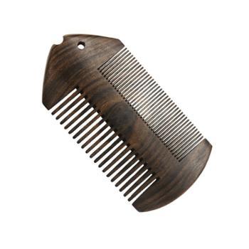 精品沉贵宝篦子梳双面粗密齿木梳按摩顺发美发顺发胡须梳