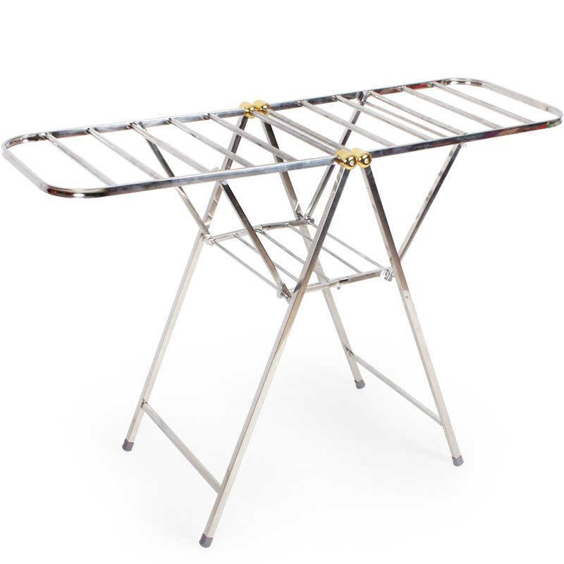 翼型晾衣架全不锈钢落地折叠蝶形挂衣架室内