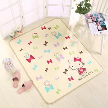 出口日式KT猫珊瑚绒榻榻米飘窗客厅卧室门垫床垫地垫地毯游戏垫50*120