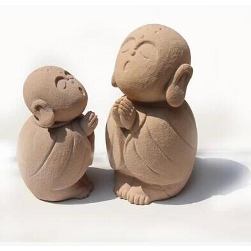 可爱小和尚摆件石雕工艺品