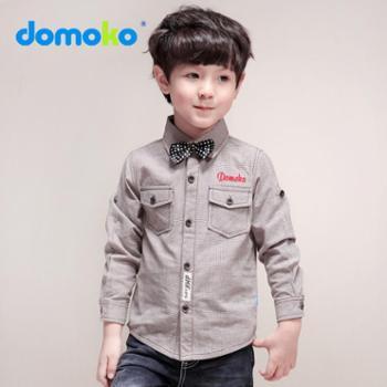 2014秋季新款大拇哥童装 儿童纯棉衬衫 男童长袖英伦风衬衫纯色潮 923110614