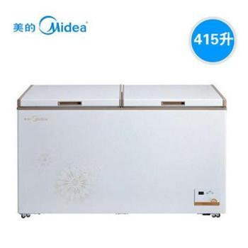 Midea/美的BD/BC-415DKEM低温单温雪柜冷柜卧式冷冻柜冰柜商用