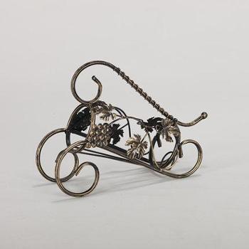 欧式创意红酒架酒柜装饰品家居客厅摆件复古铁艺工艺品电视柜摆设