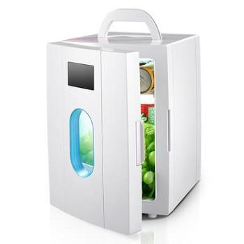 爱普10L车载冰箱车家两用迷你小冰箱小型家用微型宿舍冷藏冰箱