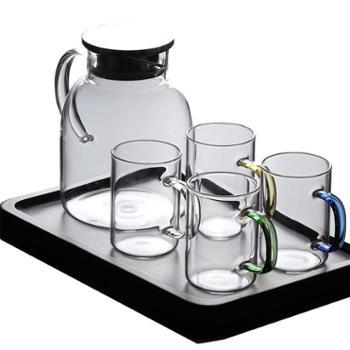 朴原良品家用冷水壶耐热玻璃水壶凉白开水壶耐高温花茶壶果汁壶