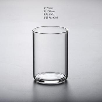 朴原良品耐高温玻璃杯简约加厚底玻璃茶杯酒杯水杯子早餐杯