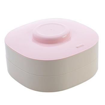 双层干果盒分格糖果盒客厅带盖干果盘家用零食收纳盒瓜子盘糖果盘