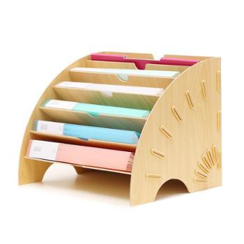 扇形文件架办公收纳资料架创意办公室用品桌面教师收纳架架子多层文件夹分类架置物架档案架文件分层架文件框