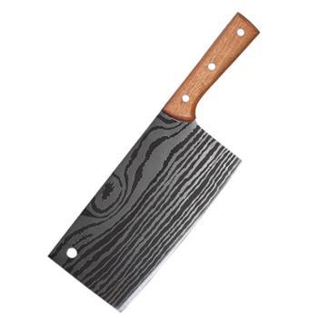 菜刀切肉刀大马士革纹锋利不锈钢家用厨师刀切片刀