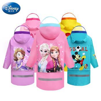 迪士尼儿童雨衣环保无味雨衣牛津布拉链