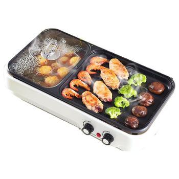 多功能烤涮一体锅家用无烟不粘电烤盘