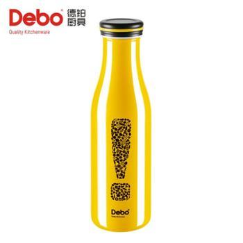 Debo德国弗里创意时尚304不锈钢水杯杯子男女款牛奶杯-黄色