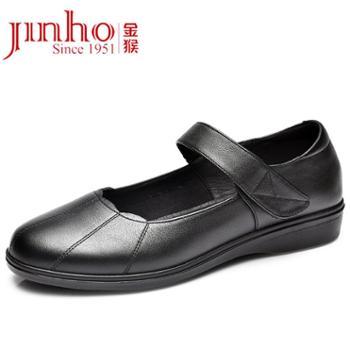 Jinho/金猴金猴女鞋2018年春秋季女士皮鞋日常休闲鞋浅口鞋妈妈鞋SQ55058A、SQ55058