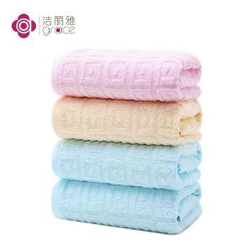 洁丽雅五条装柔软吸水面巾6415x5条装
