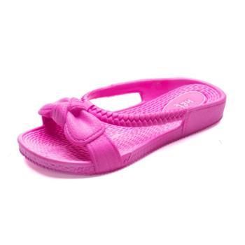 通用券优惠 鞋星 四季通用居家浴室女童室内拖鞋 可爱蝴蝶结沙滩户外拖鞋