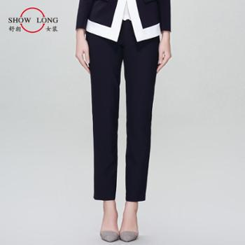舒朗 2016新款女装通勤时尚直筒长裤女显瘦女裤单裤 DSF1F08