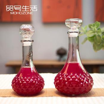 无铅玻璃红酒瓶密封空瓶高档自酿葡萄酒瓶储存泡药酒醒酒器 单个装