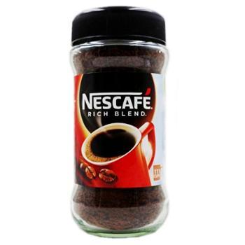 雀巢醇品纯黑咖啡速溶无糖添加无奶原味苦咖啡200g瓶装