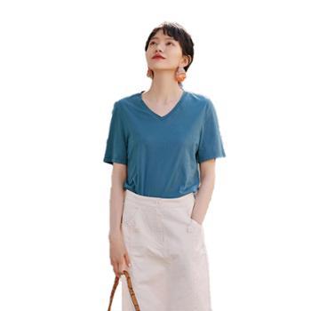 乐拜时尚女装夏季短袖T恤81632