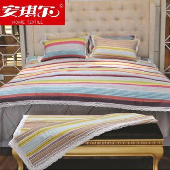 安琪尔家纺 床上用品夏凉品 老粗布 纯棉三件套 手织布三件套