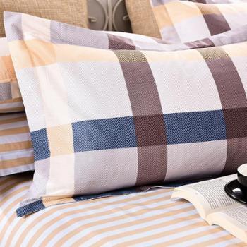 安琪尔家纺床上用品全棉印花枕套一只装纯棉枕套包邮48*741对请拍2