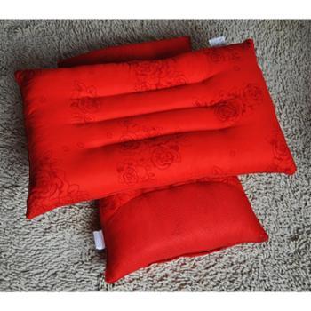 安琪尔家纺磁疗保健枕芯决明子护颈枕头48*74厘米大红婚庆枕头