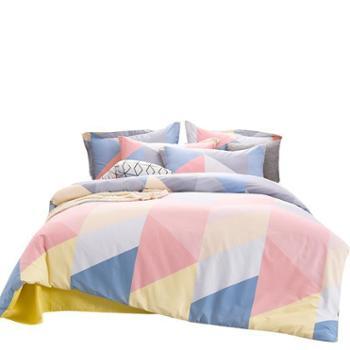 安琪尔家纺纯棉时尚印花床单被套四件套