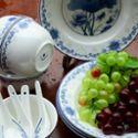 至正青花 荷塘雅趣12头餐具 ZQH12-171 青花瓷餐具套装