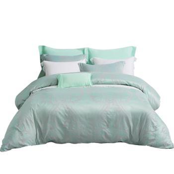 梦洁家纺欧式提花四件套被罩双人床单被套1.5米1.8米套件 圣保罗