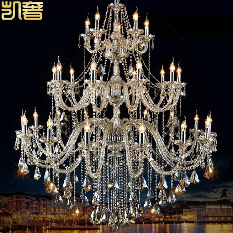 欧式客厅大堂餐厅水晶大吊灯