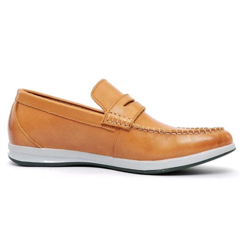 男土商务皮鞋 牛皮圆头平跟纯色