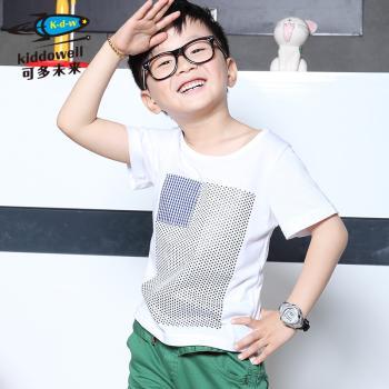 可多未来童装 儿童男童韩版短袖纯棉T恤五角星短T