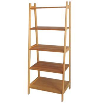 缔造舒闲松木原色奥斯卡梯形置物架