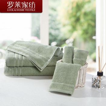 罗莱家纺 进口雅致系列方巾面巾组合