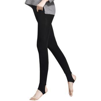好波女士加绒打底保暖裤加厚高腰踩脚长裤DBT1801内有两款可选