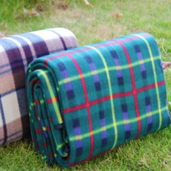 绒面防潮垫 大号多功能折叠野餐垫 户外休闲垫 爬行垫