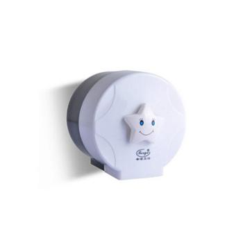 峰洁防水小卷纸巾盒卫生间厕所纸巾架浴室可贴透明卷纸厕纸盒
