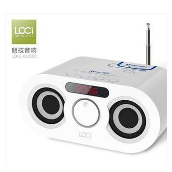 loci D68插卡音箱带收音机mp3音乐播放器U盘胎教手机便携迷你音响
