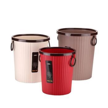创意欧式家用无盖垃圾桶大号塑料压圈酒店客厅厨房卫生间办公纸篓