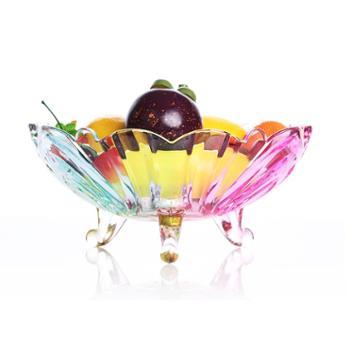 尚品志大号水晶玻璃现代客厅创意简约欧式干果水果盘斗结婚糖果碗